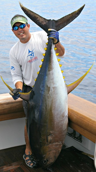 A nice yellowfin caught by Capt. Wade Richardson aboard the Hooker in Panama.