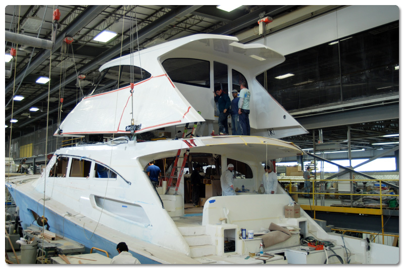 Top going on Viking 92 Enclosed Bridge Convertible