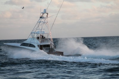 Captain Wheeler's current ride, the Marlin Darlin, a 62' Spencer