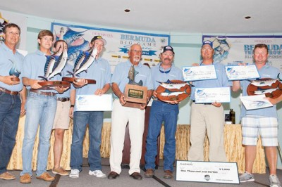 2008 InTheBite Captain of the Year Travis Butters and Que Mas wins 2014 Bermuda Big Game Classic