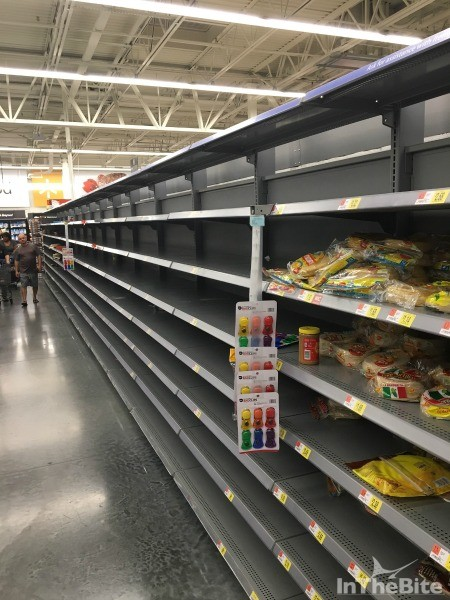 Groceries and necessities were in short supply as the east coast made ready for the storm.