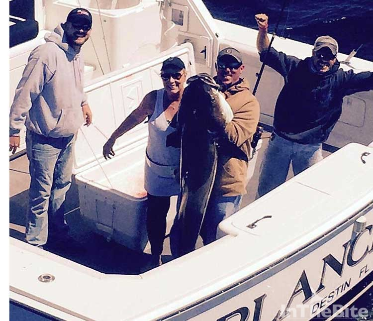 The Blanchita crew with a monster cobia this year