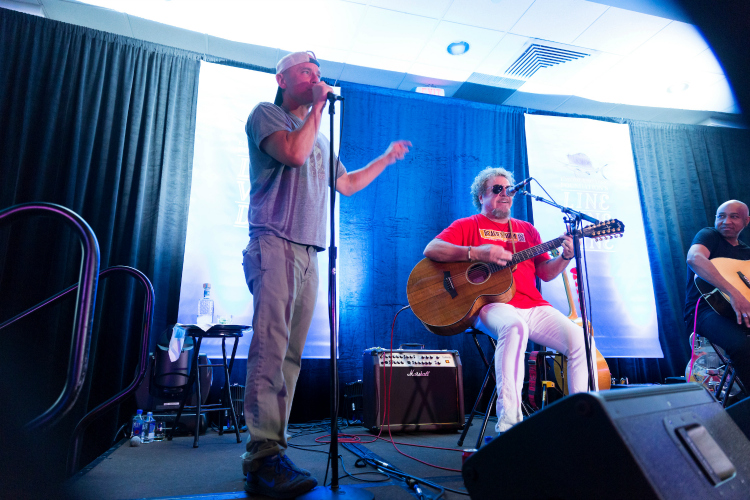 Sammy Hagar and Kenny Chesney, private performance