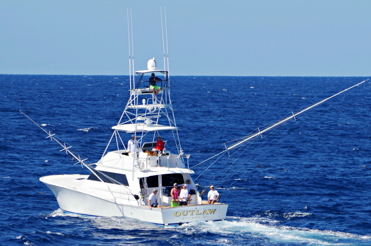 Capt. Ian Wichers getting after them on the Outlaw.