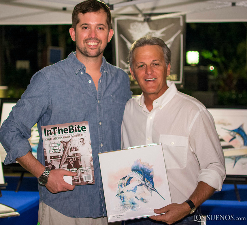 Renowned Marine Artist, and the man behind the new InTheBite Captain of the Year Logo, Steve Goione.