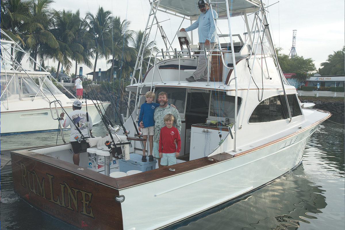 Family on the Rum Line boat