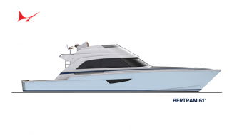 Uncovering of Bertram Yachts Cutting-Edge 61
