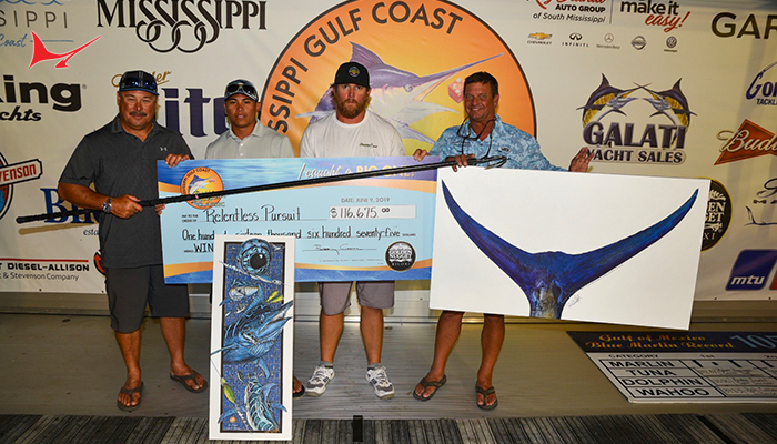 Relentless Pursuit Wins 2019 Mississippi Gulf Coast Billfish Classic