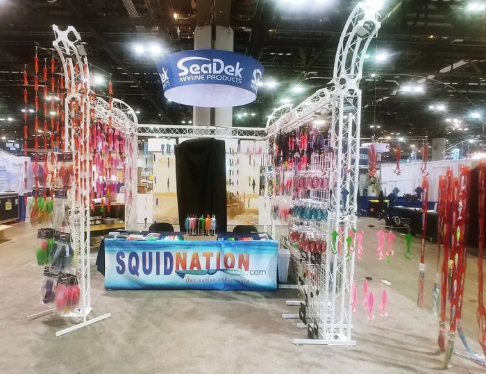 squidnation booth at the icast convention