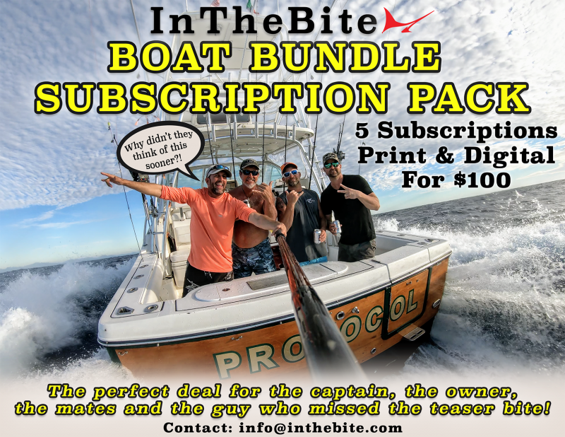 The InTheBite Boat Bundle is the perfect deal for the captain, the owner, the mates and the guy that missed the teaser bite!