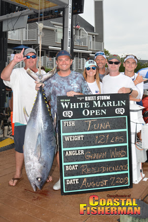 Largest Tuna 201lbs White Marlin Open Day 3