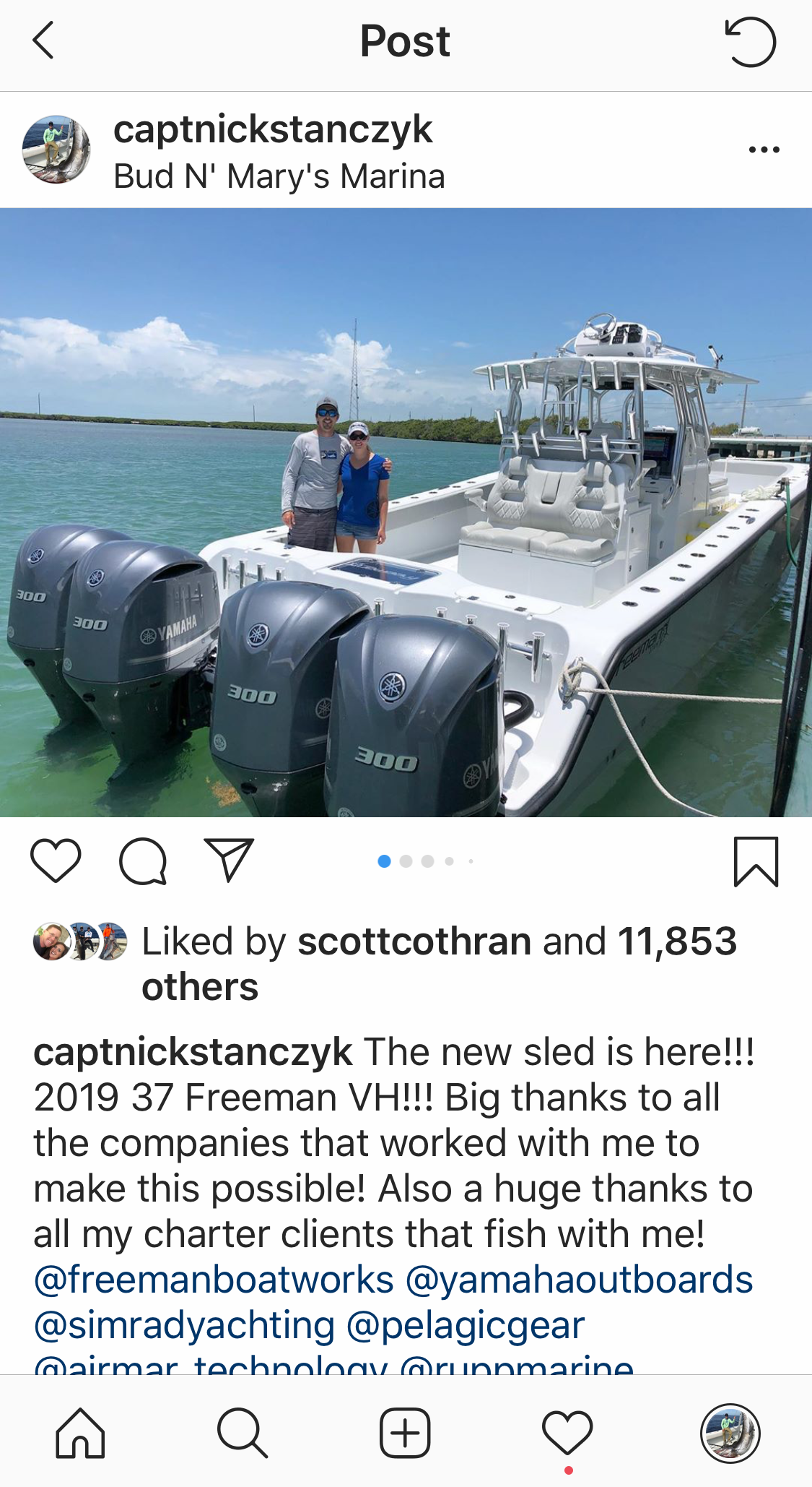 nick stanczyk instagram post @captainnickstanczyk