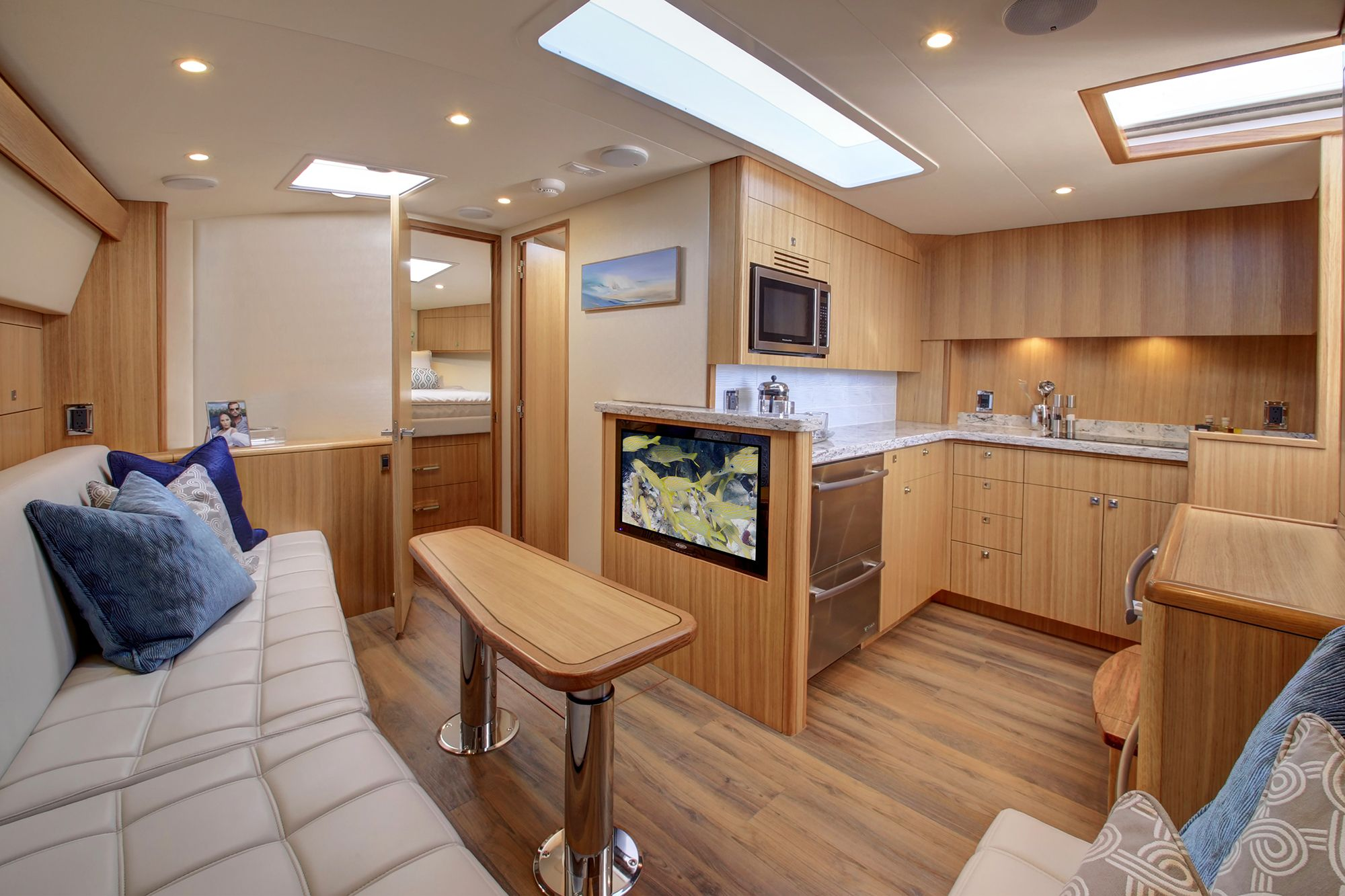 Hatteras 45EX galley
