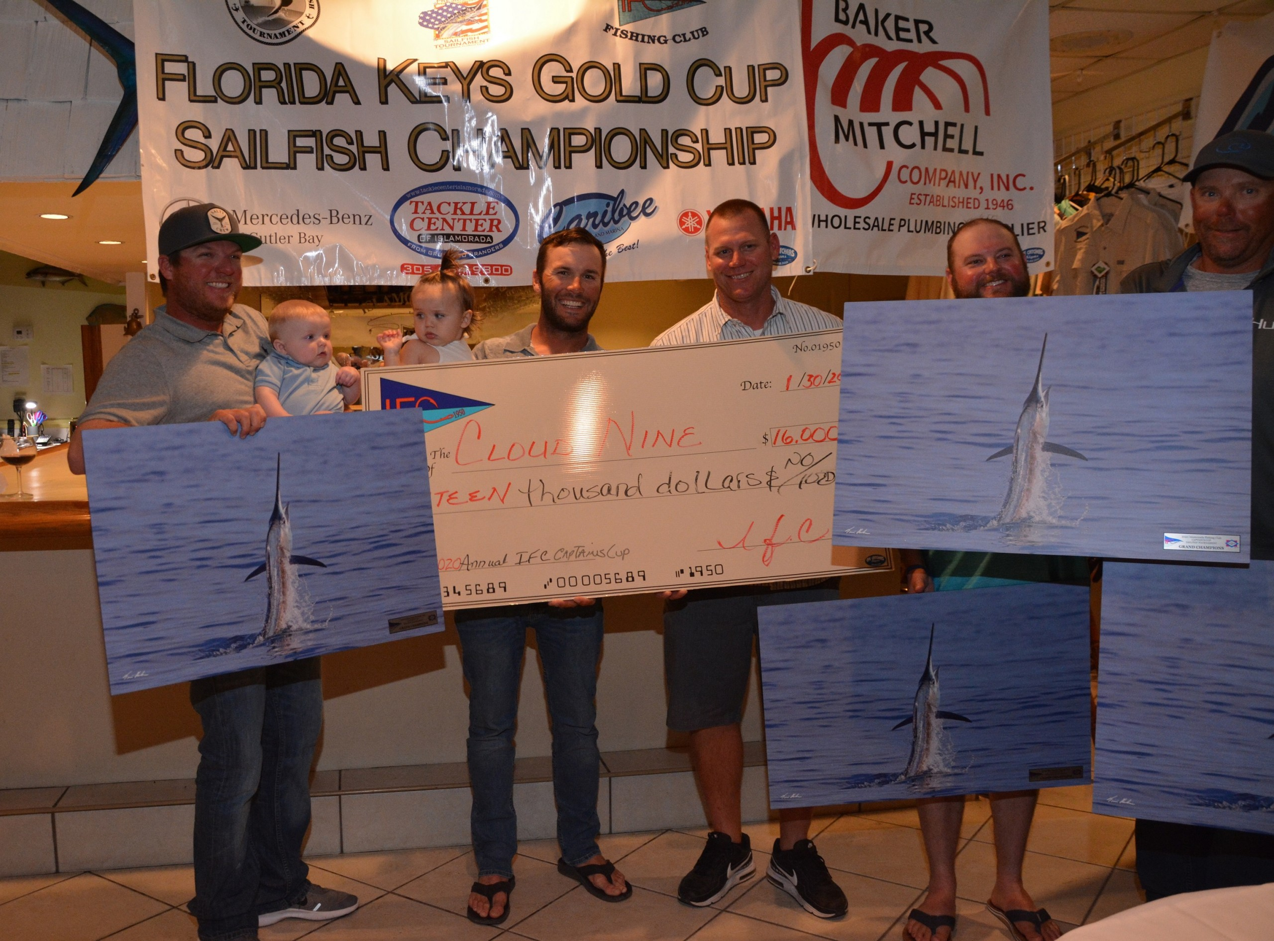 Captain Greg Eklund and Cloud Nine team take first at IFC Captain's Cup Sailfish Tournament