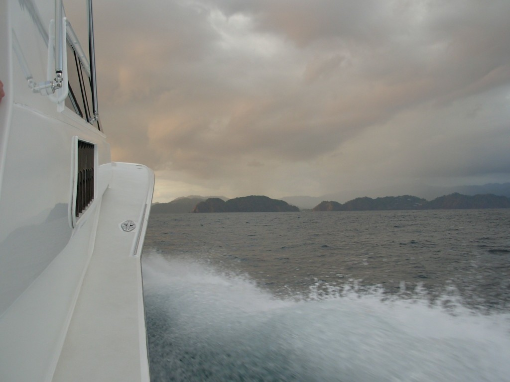 offshore boating on a sportfisher