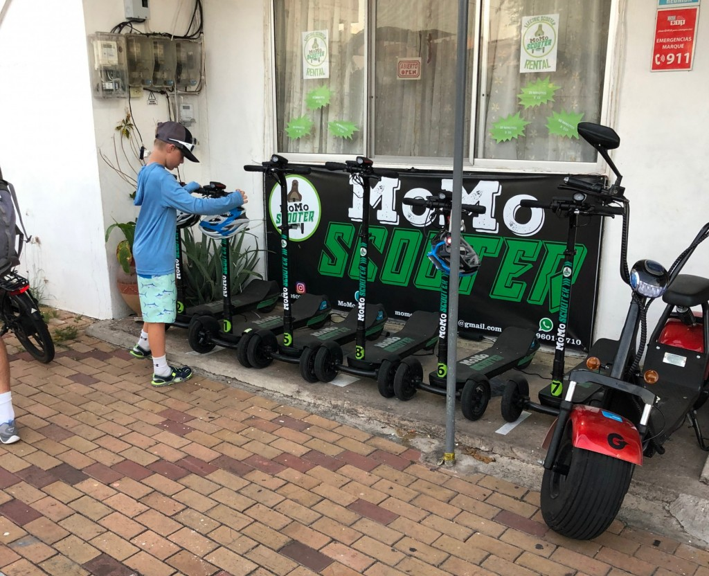 Scooters in the Galapagos