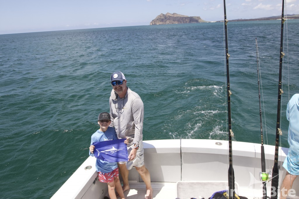 Father son fishing trip in the Galapagos