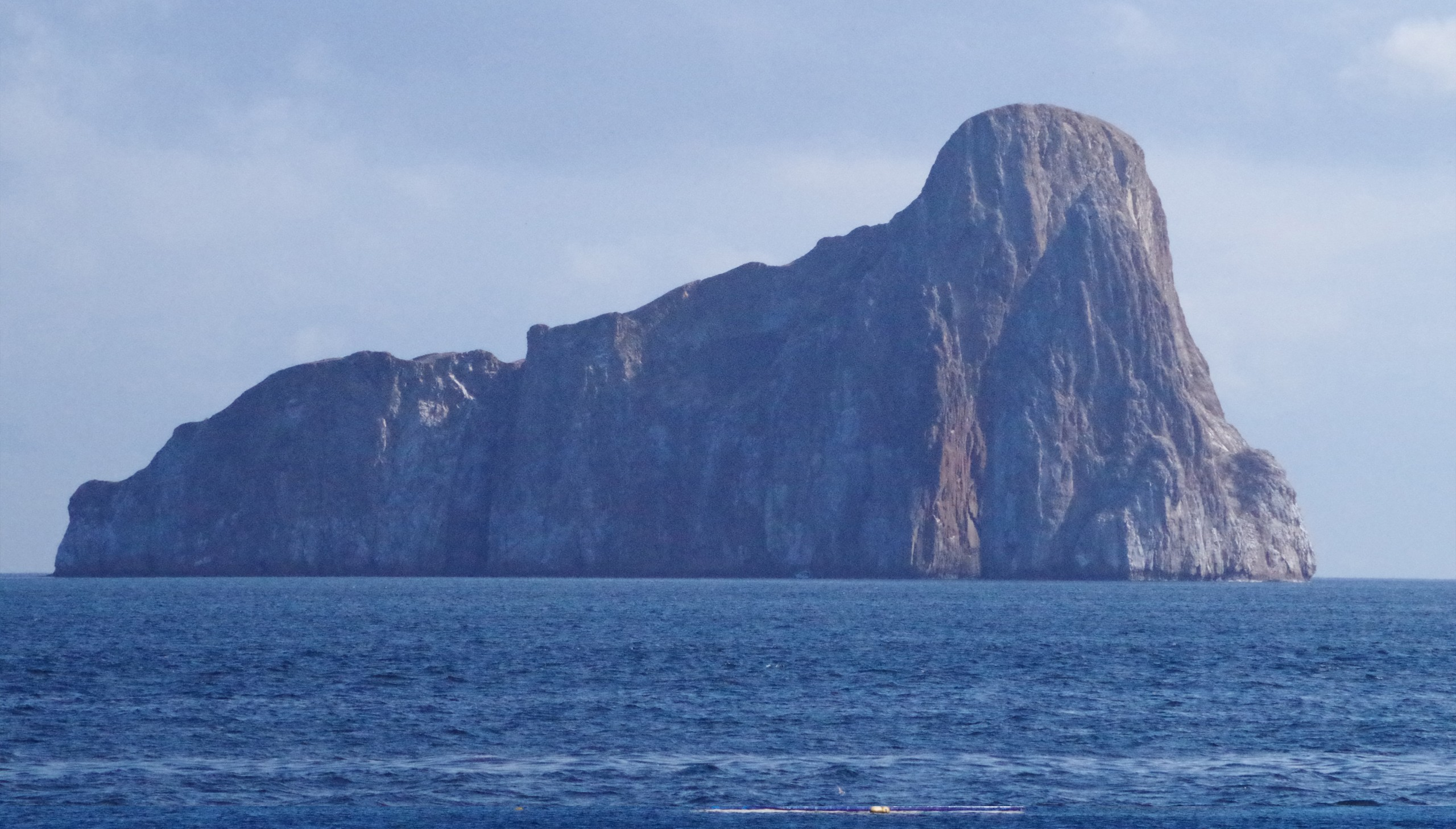 León Dormido, the sleeping lion, a striking rock formation that is surrounded by all manner of sea life.