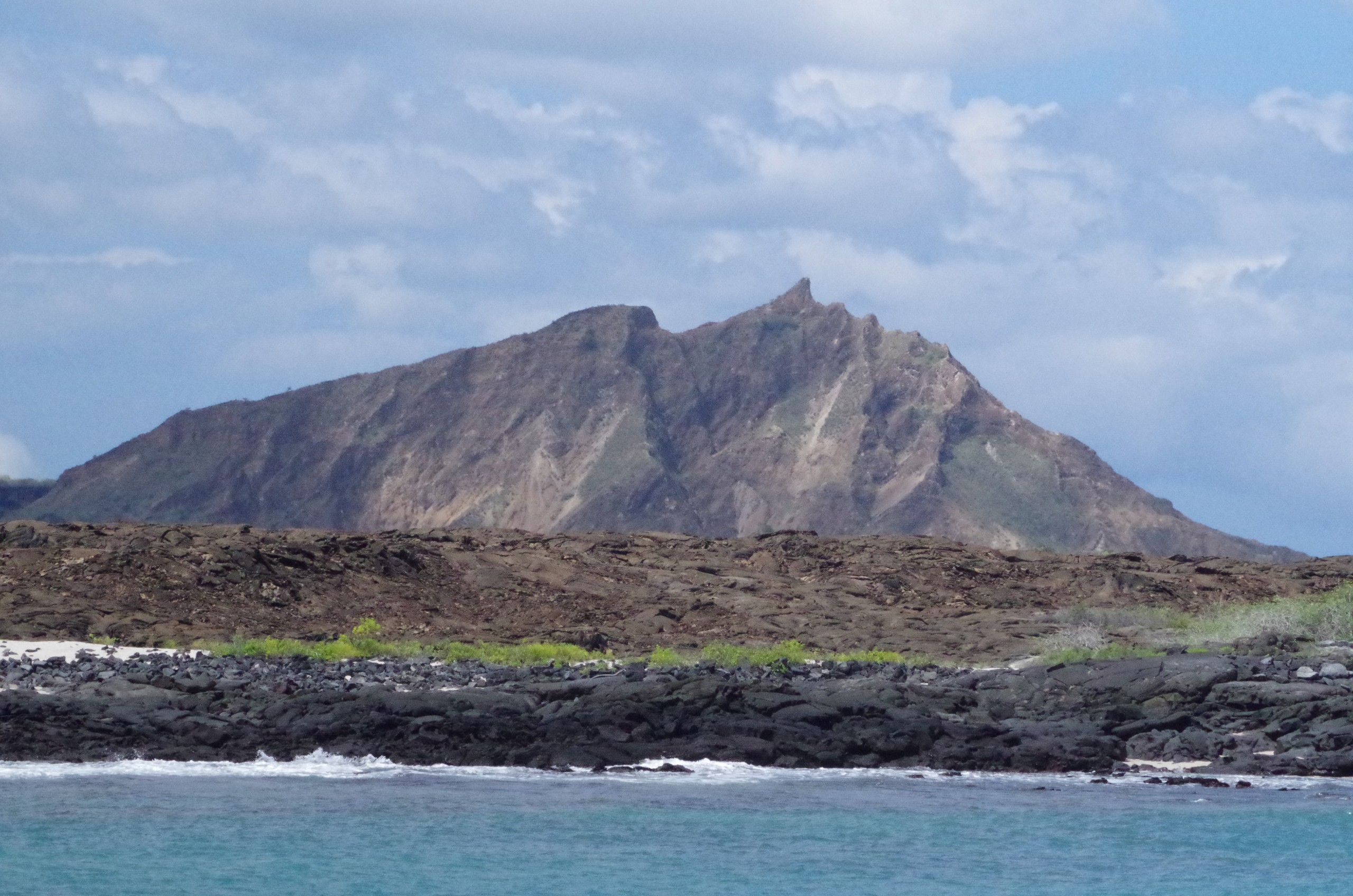 an barren island in the Galapagos