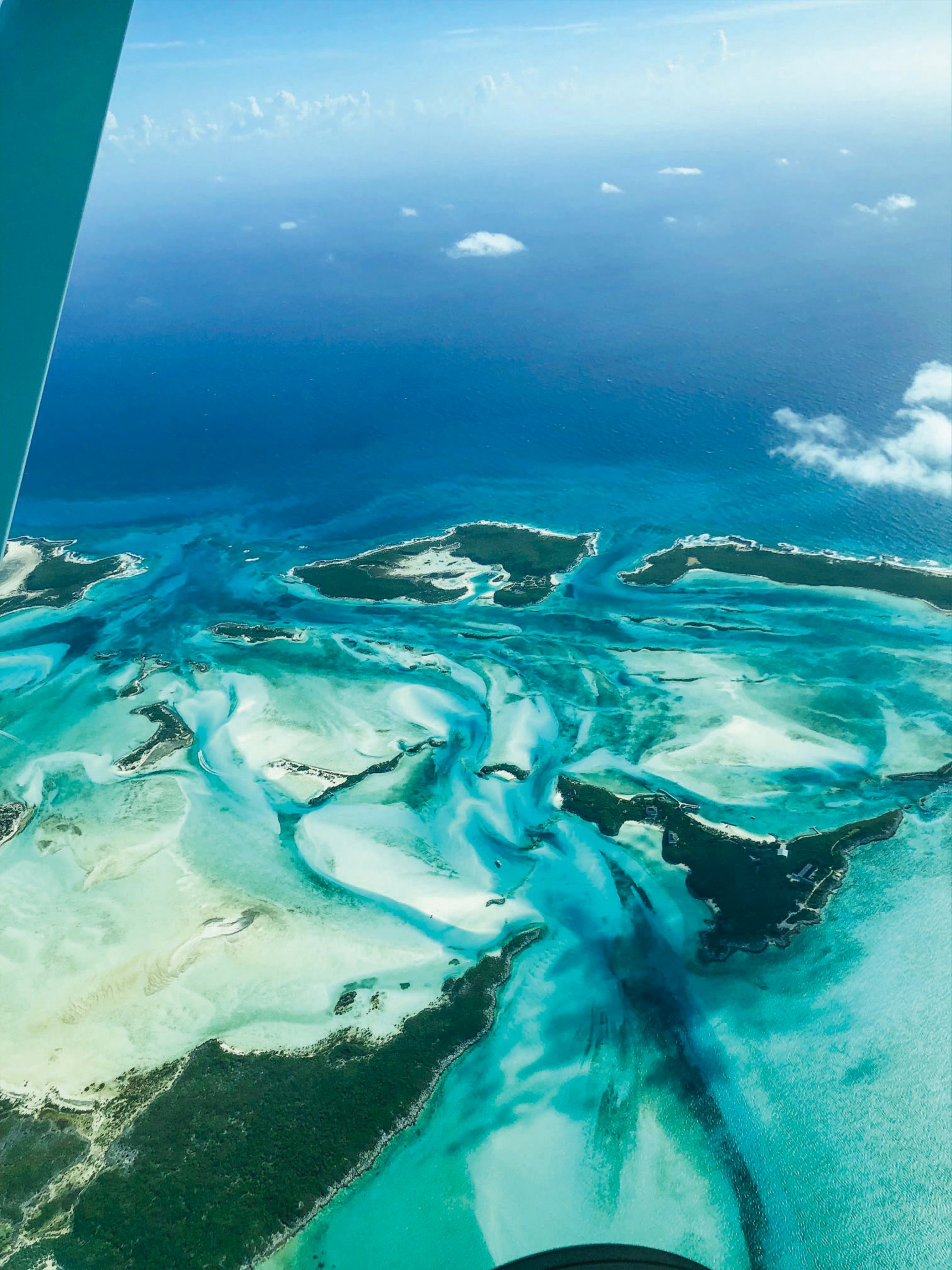 Ariel view of Bahamas islands