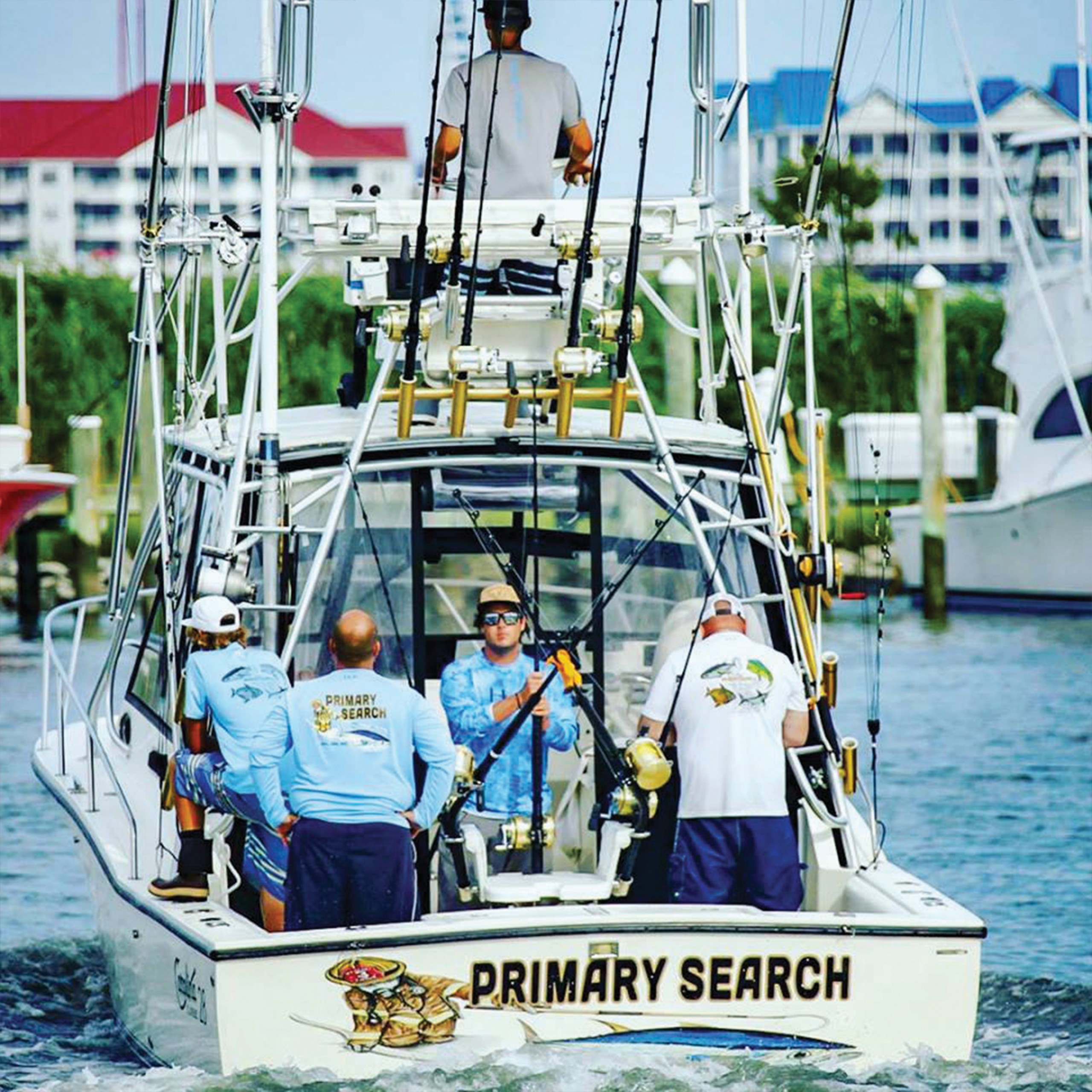 Primary Search boat on the water