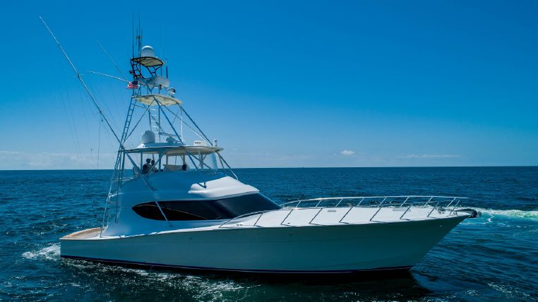 60 Hatteras floating on ocean