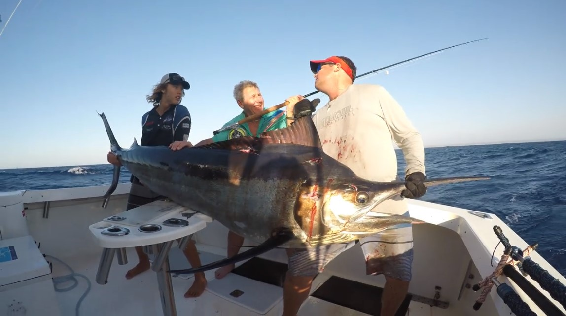 New Fly Record World Record with 212 lb. Black Marlin