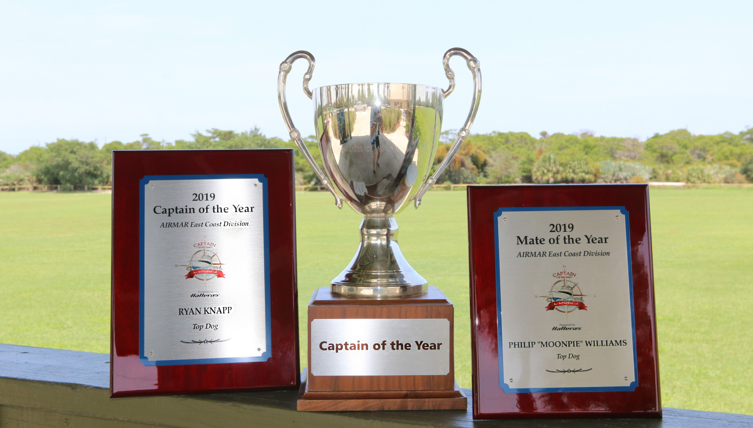 captain of the year trophy and plaques