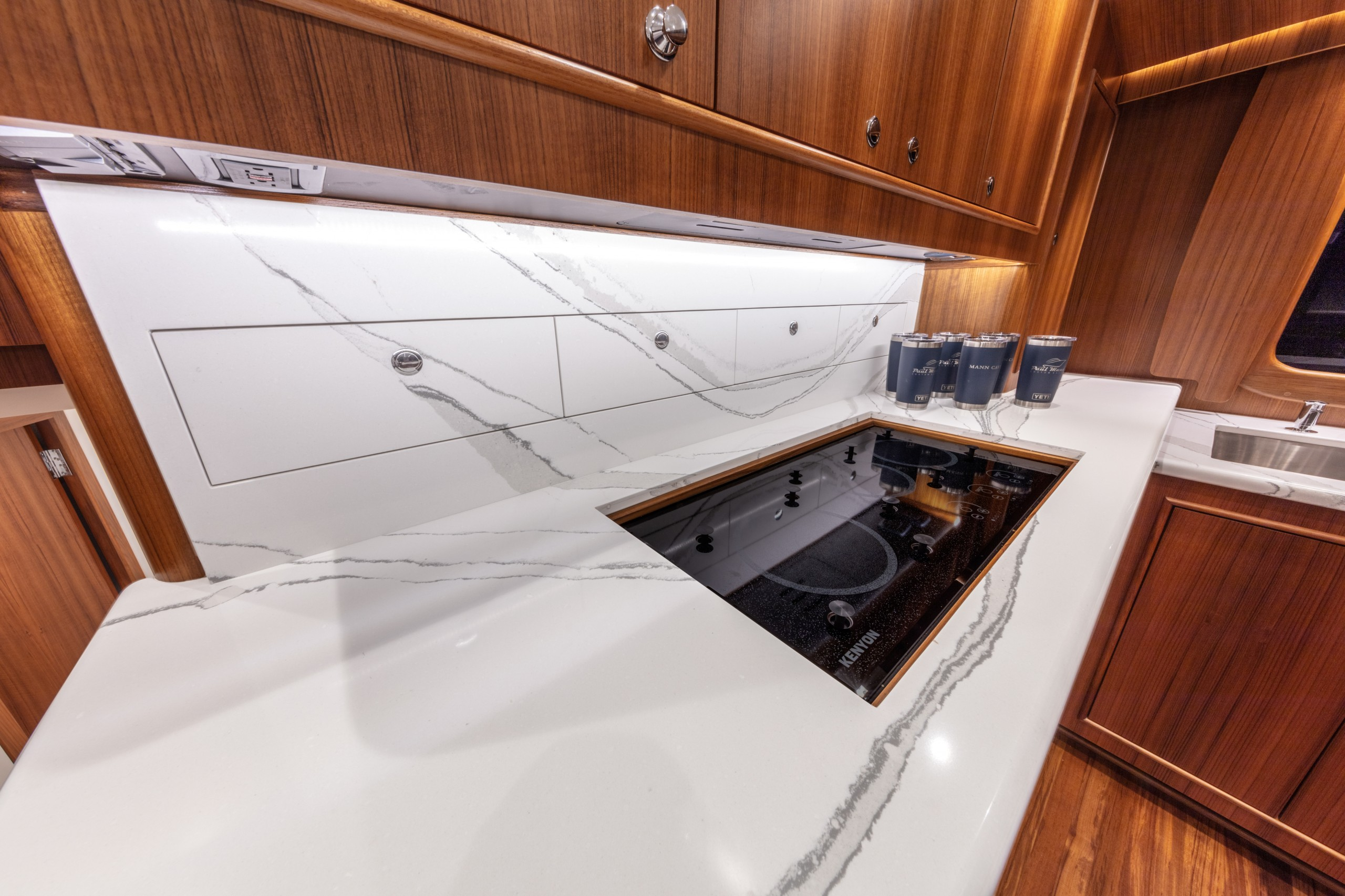 Paul Mann yacht galley stovetop
