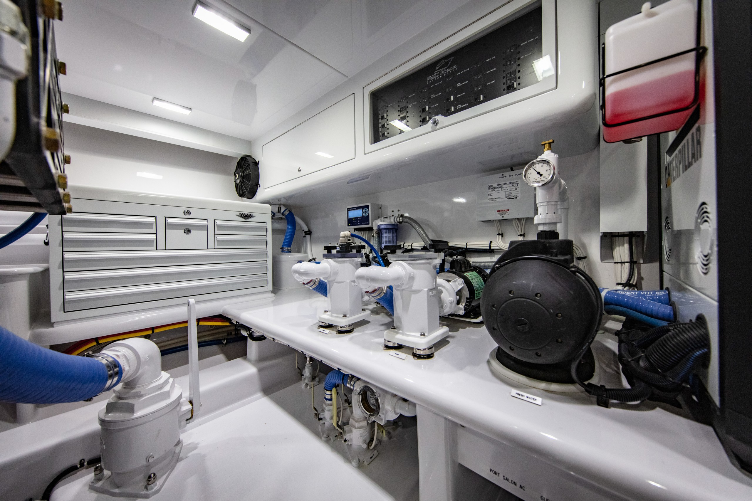 paul mann yacht engine room
