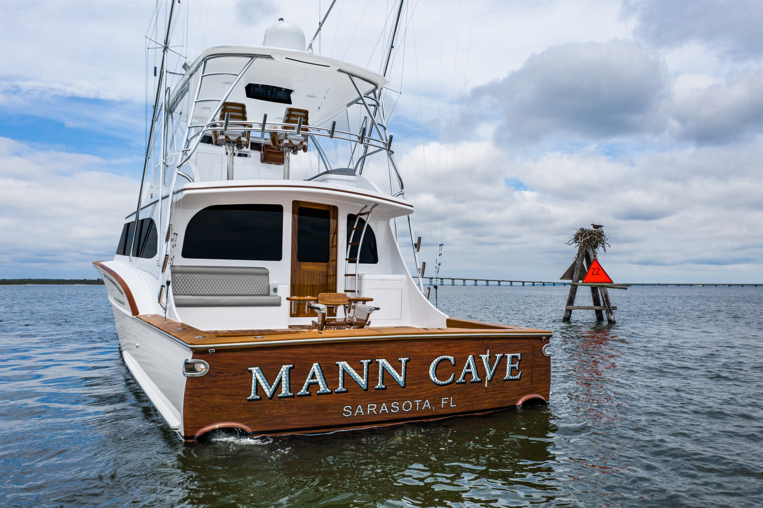 New Mann Cave yacht from Paul Mann Custom Boats