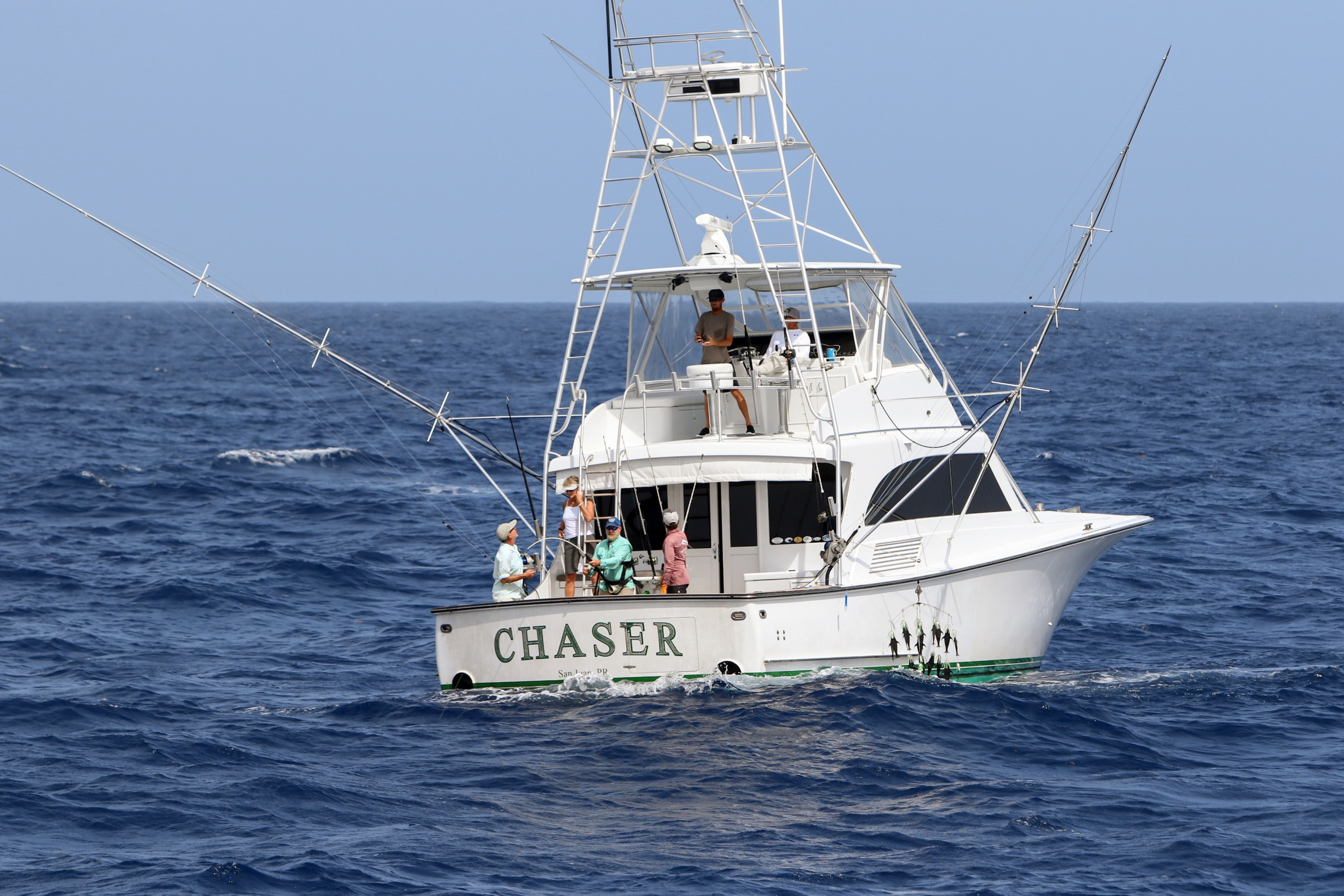 the chaser team out on the water in the dominican republic