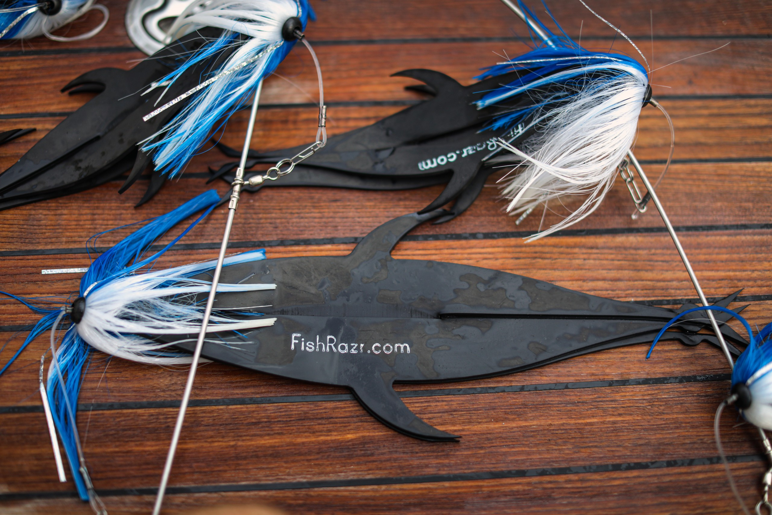 Rubber fish flaps