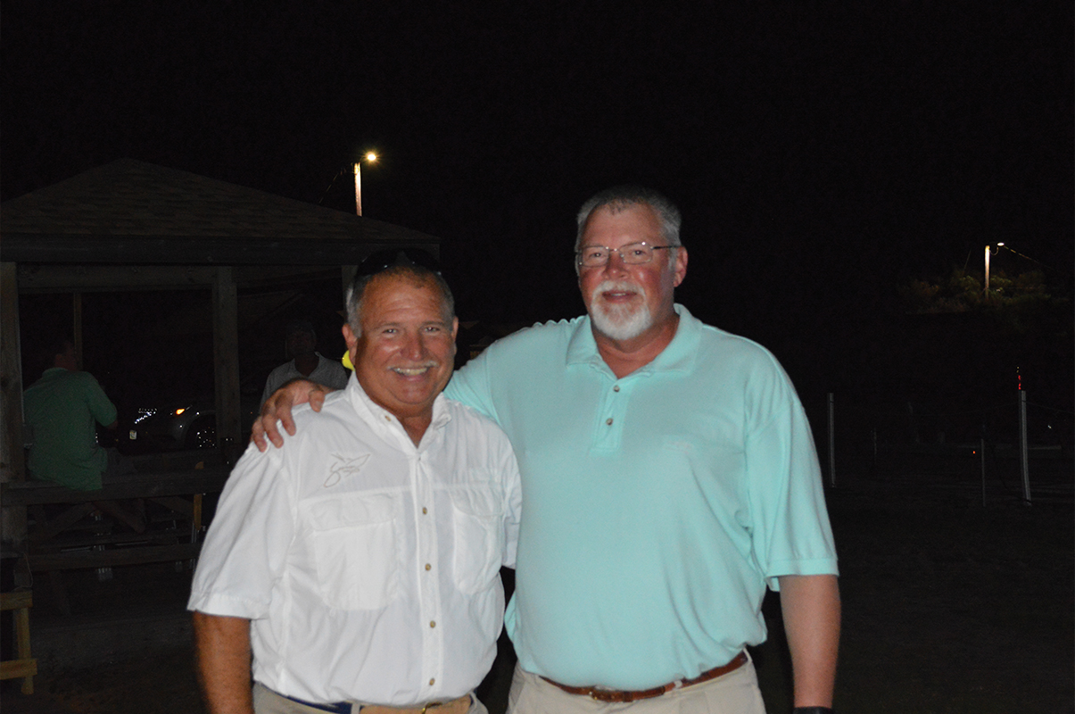Owner Robert Warren and Captain Chuck Lindner