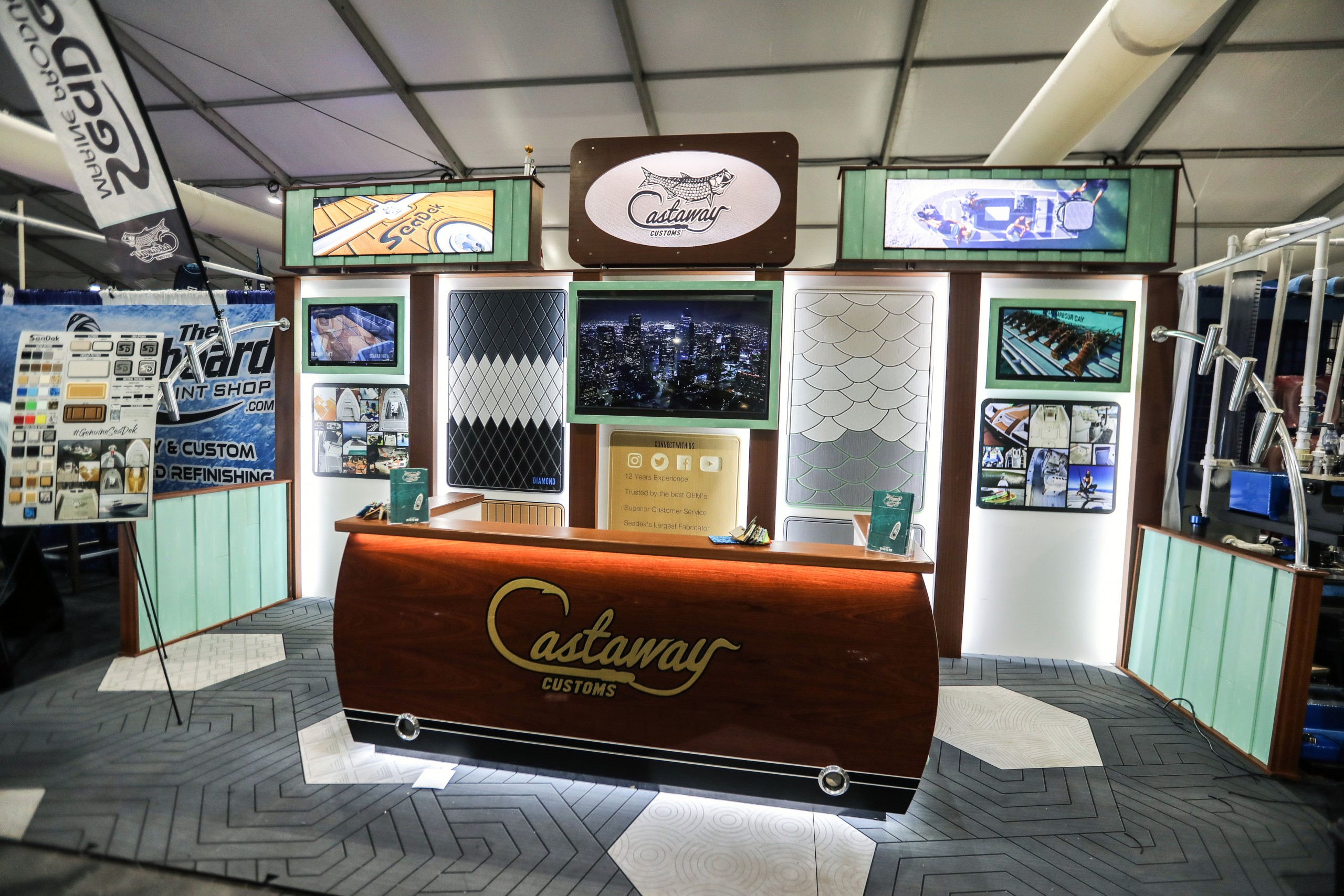 castaway customs on display at the fort lauderdale boat show