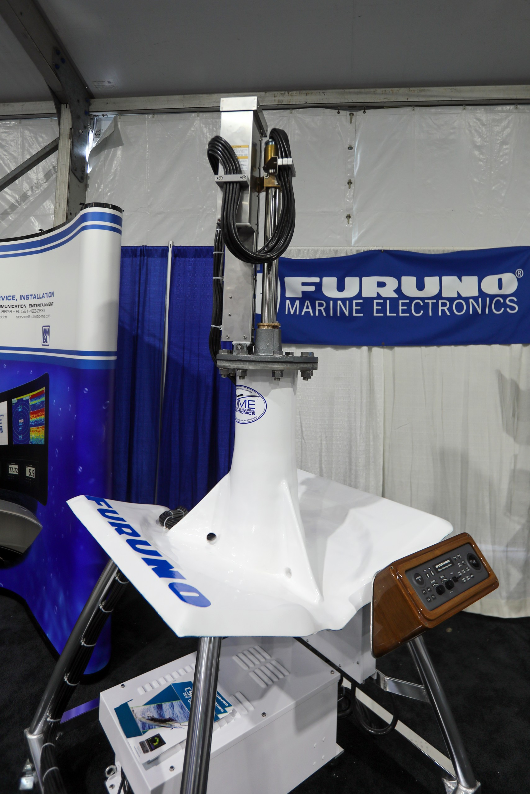 furuno marine electronics on display at the fort lauderdale boat show