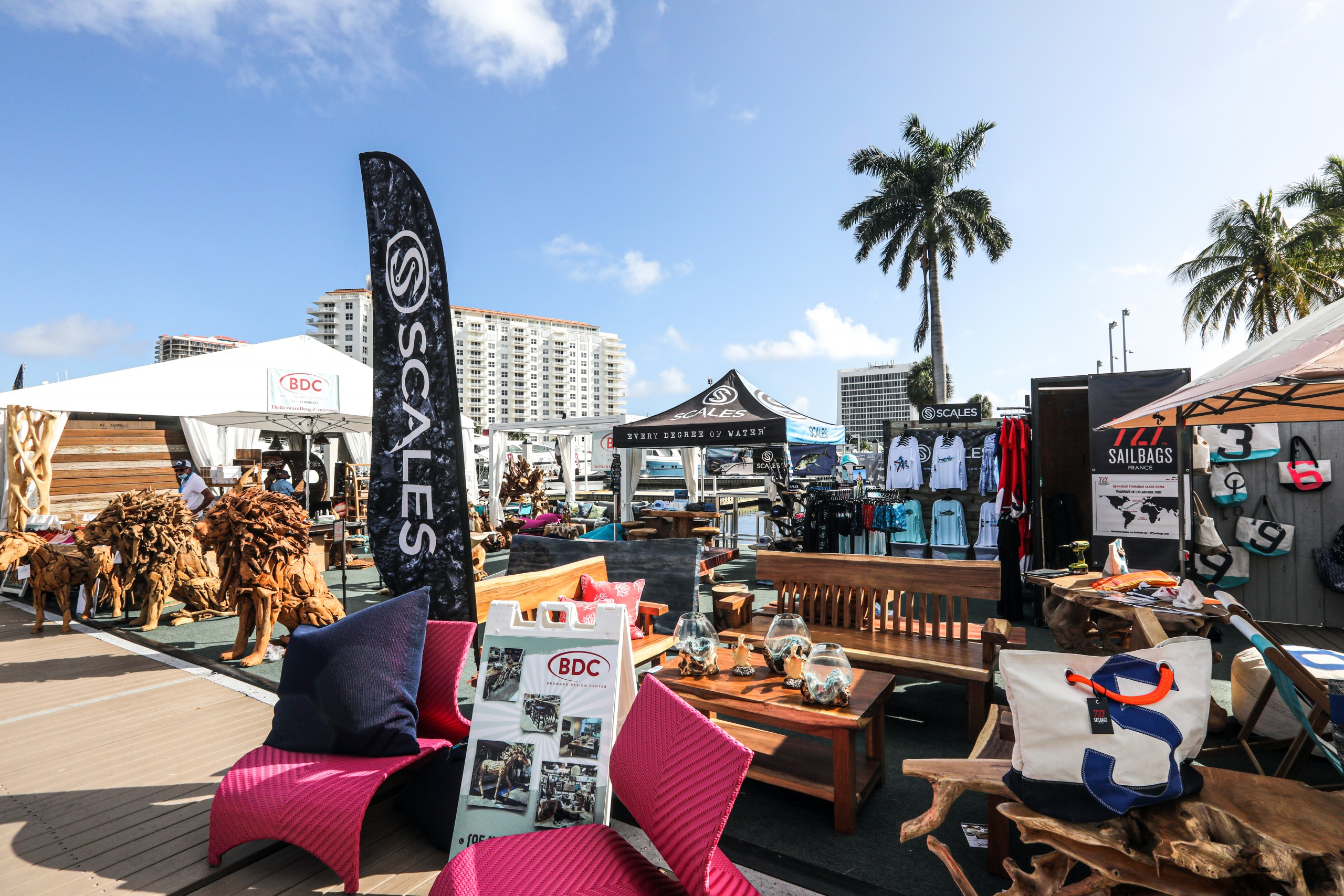 scales gear on display at the fort lauderdale boat show