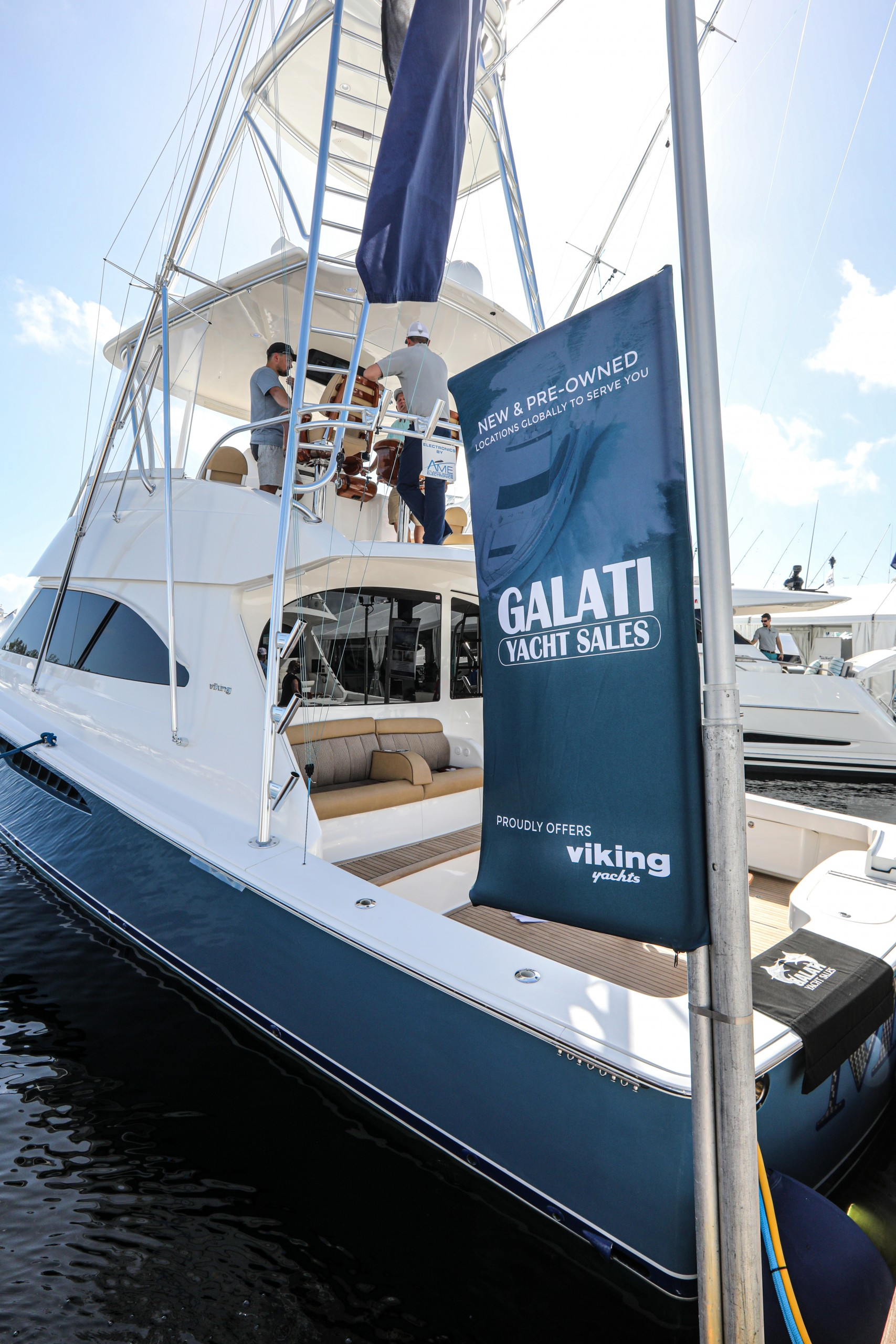 galati yacht at the fort lauderdale boat show