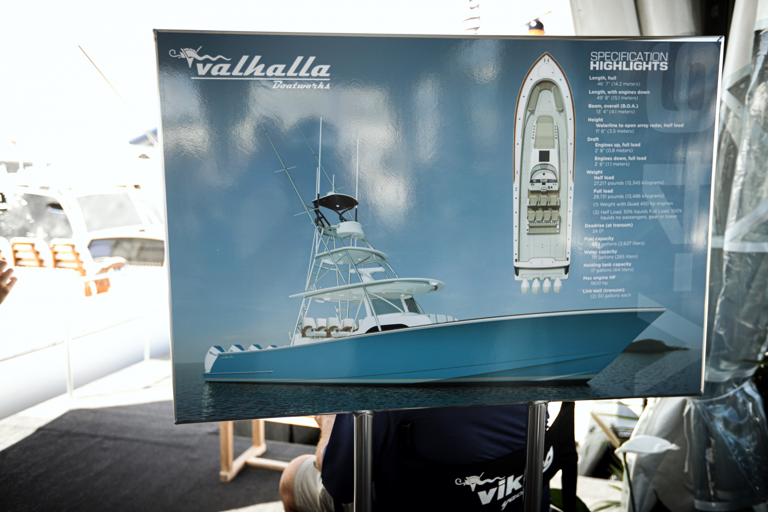valhalla boatworks on display at the fort lauderdale boat show