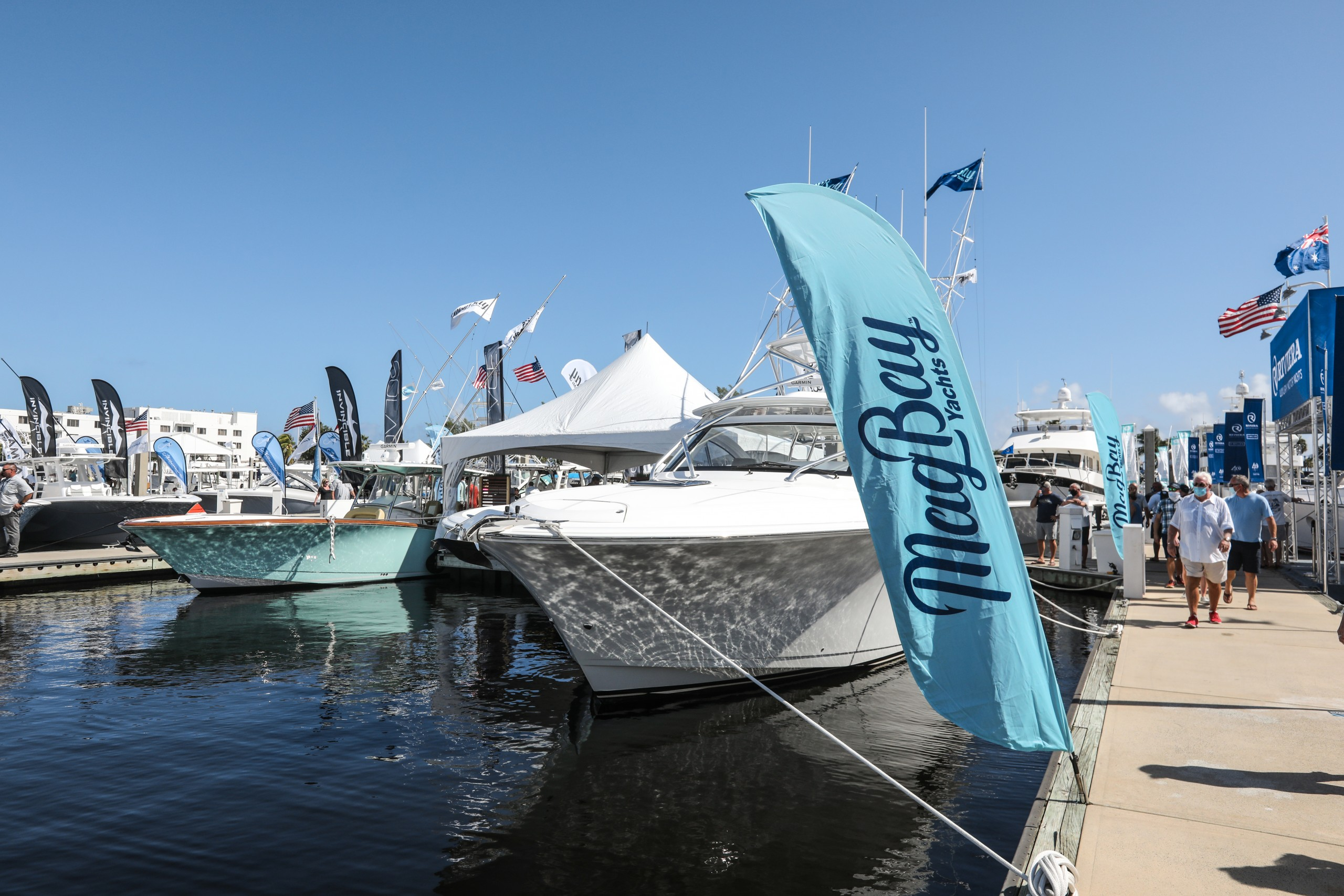 mag bay yachts at the fort lauderdale boat show