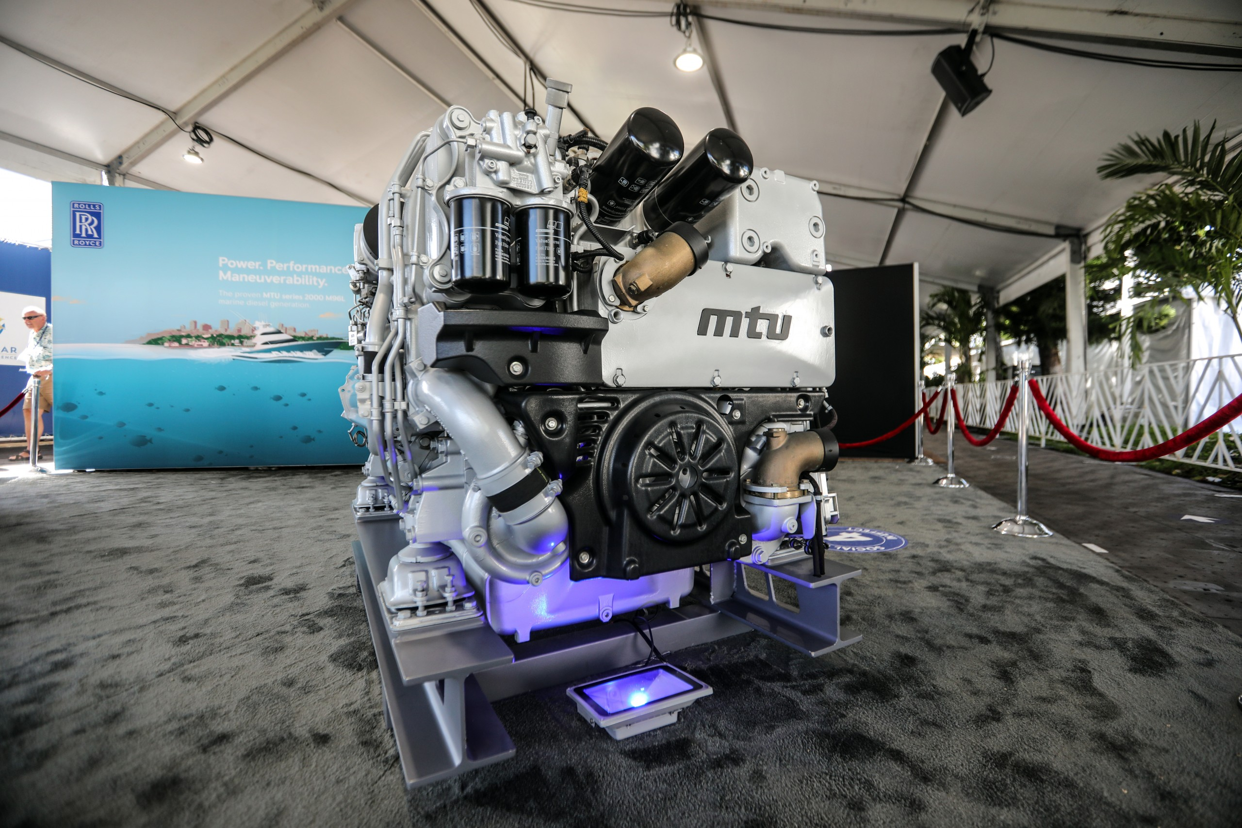 MTU Marine Diesel Motor on display