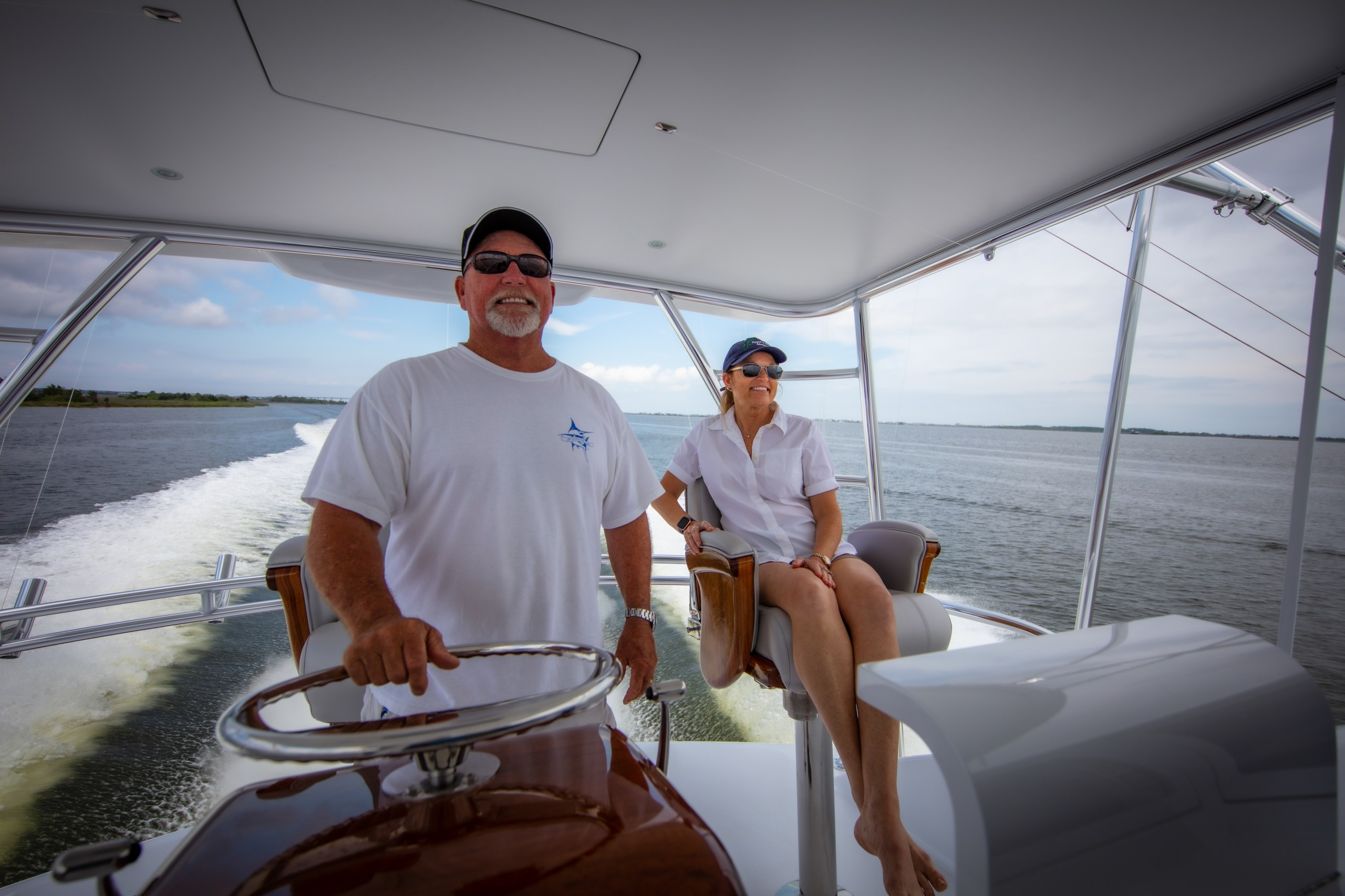 Paul and Robin Mann of Paull Mann Custom Yachts