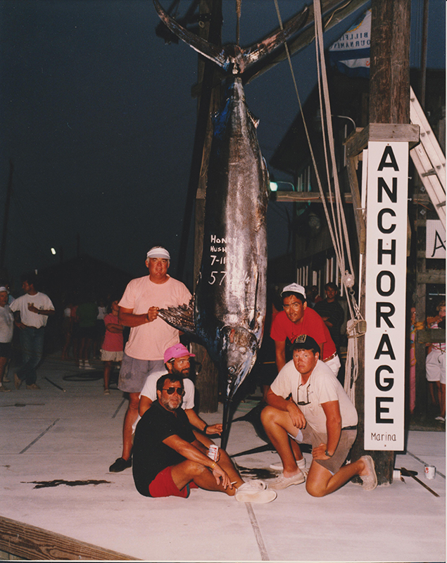 Honey Hush team with a marlin