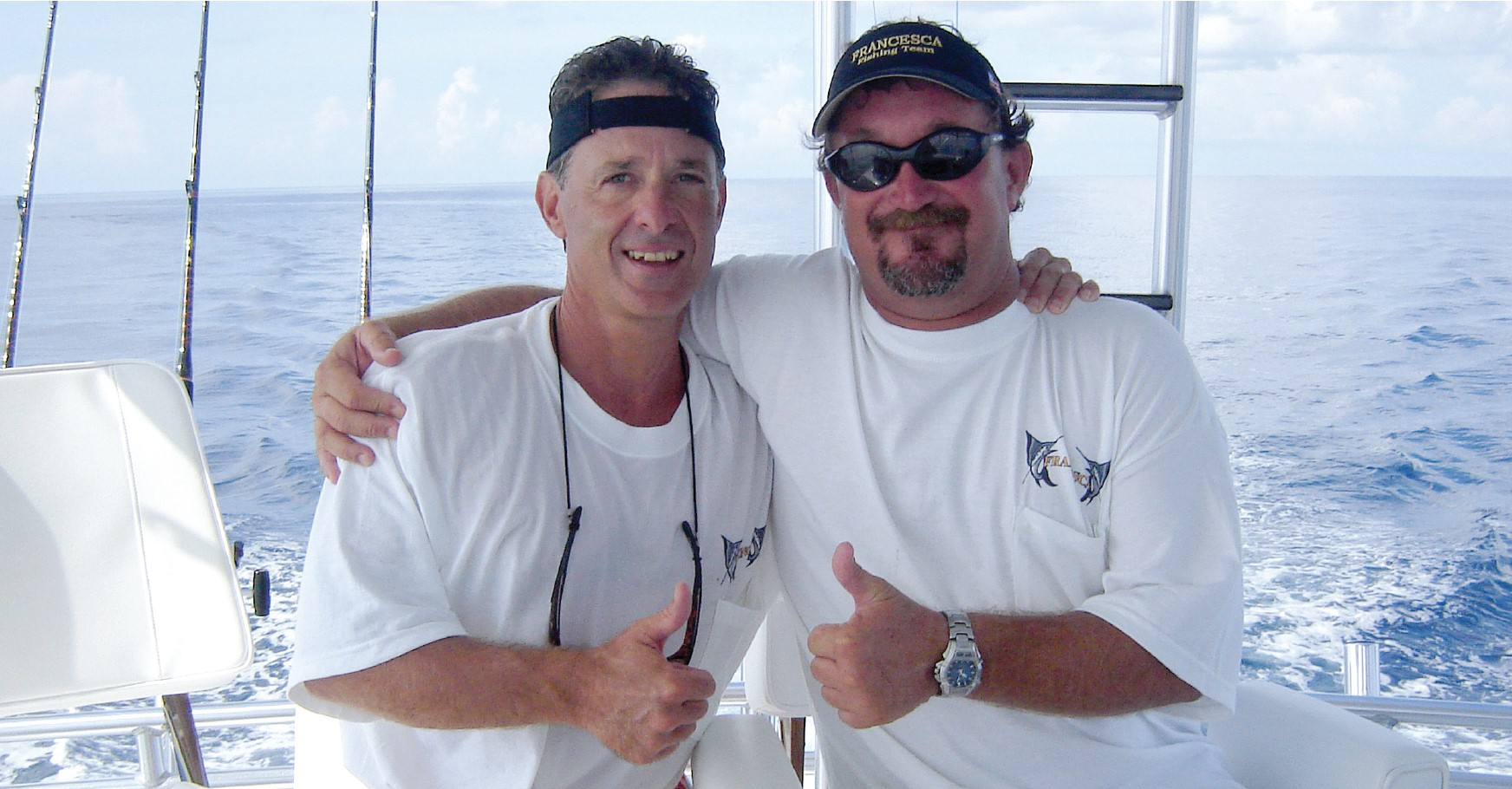 captain and boat owner on boat