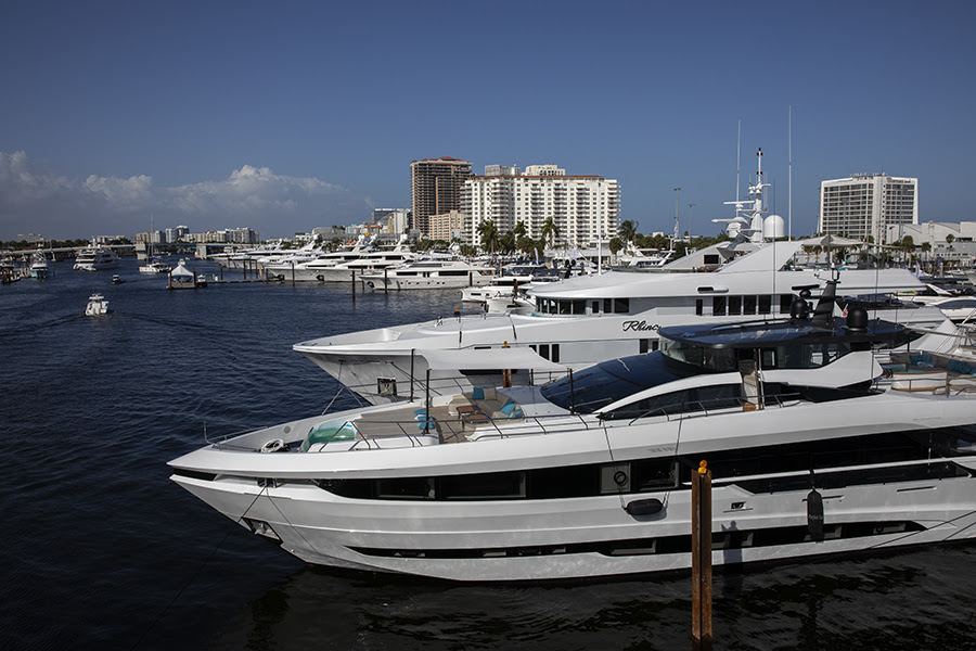 yachts at fort lauderdale boat show