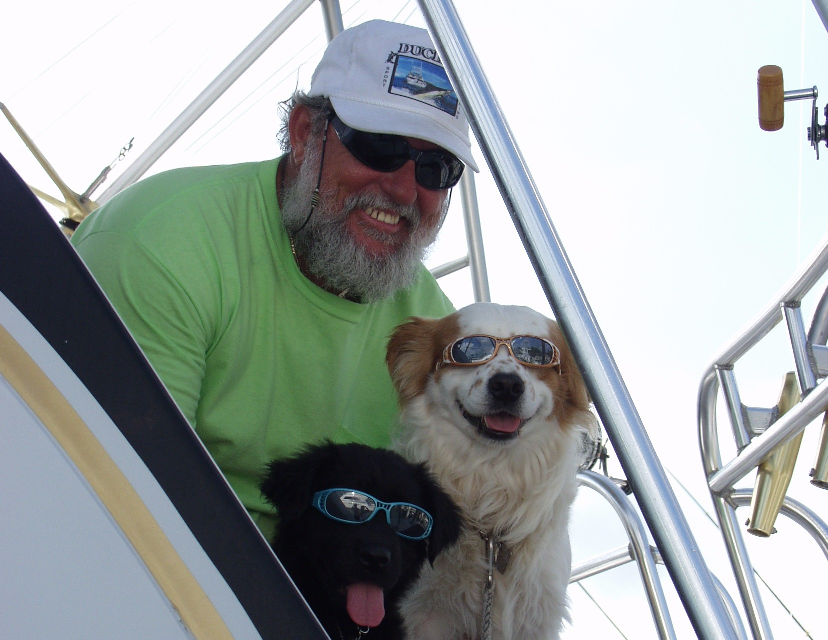 captain billy black with dogs