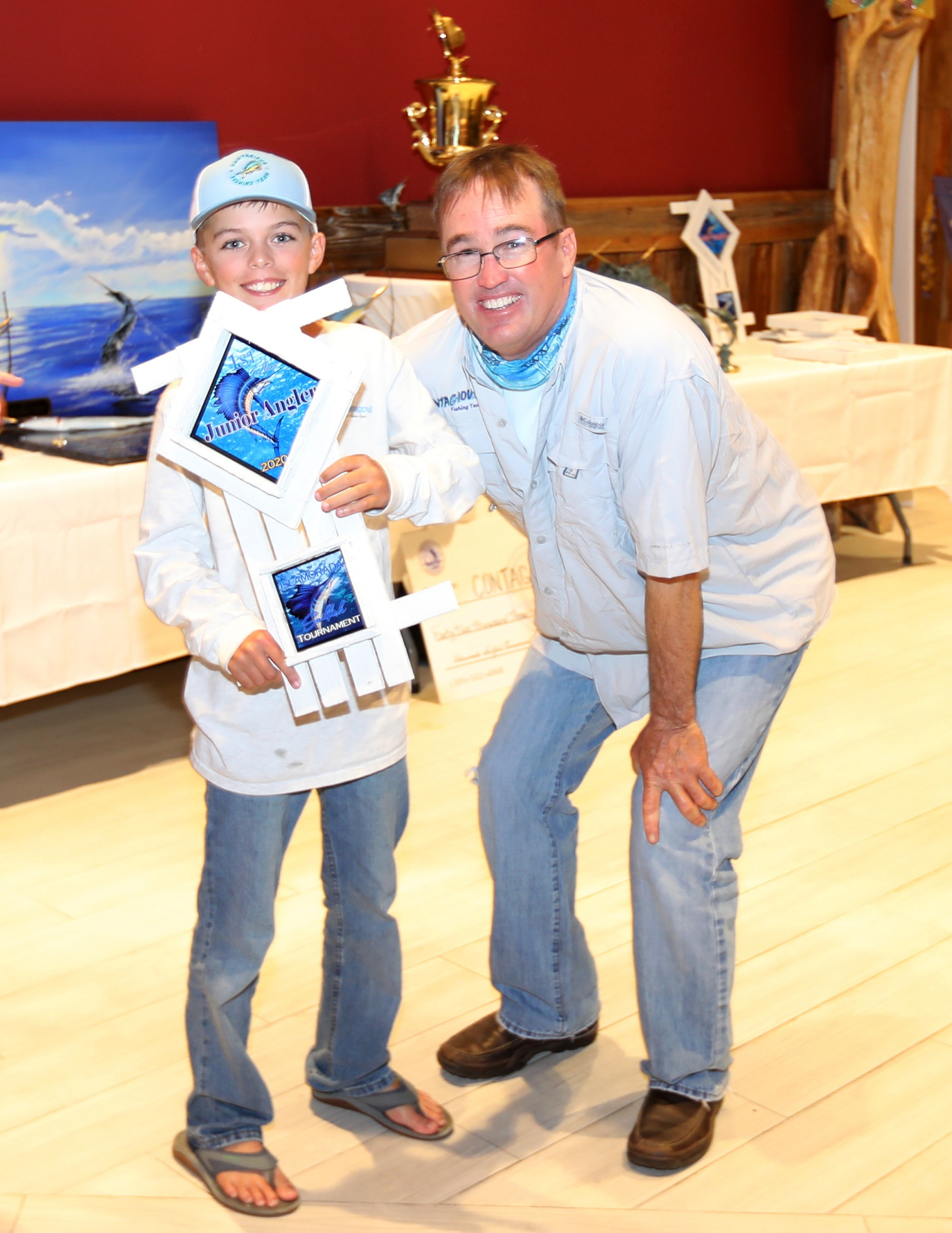 Jr. Angler Andy Cone with dad Brian Cone