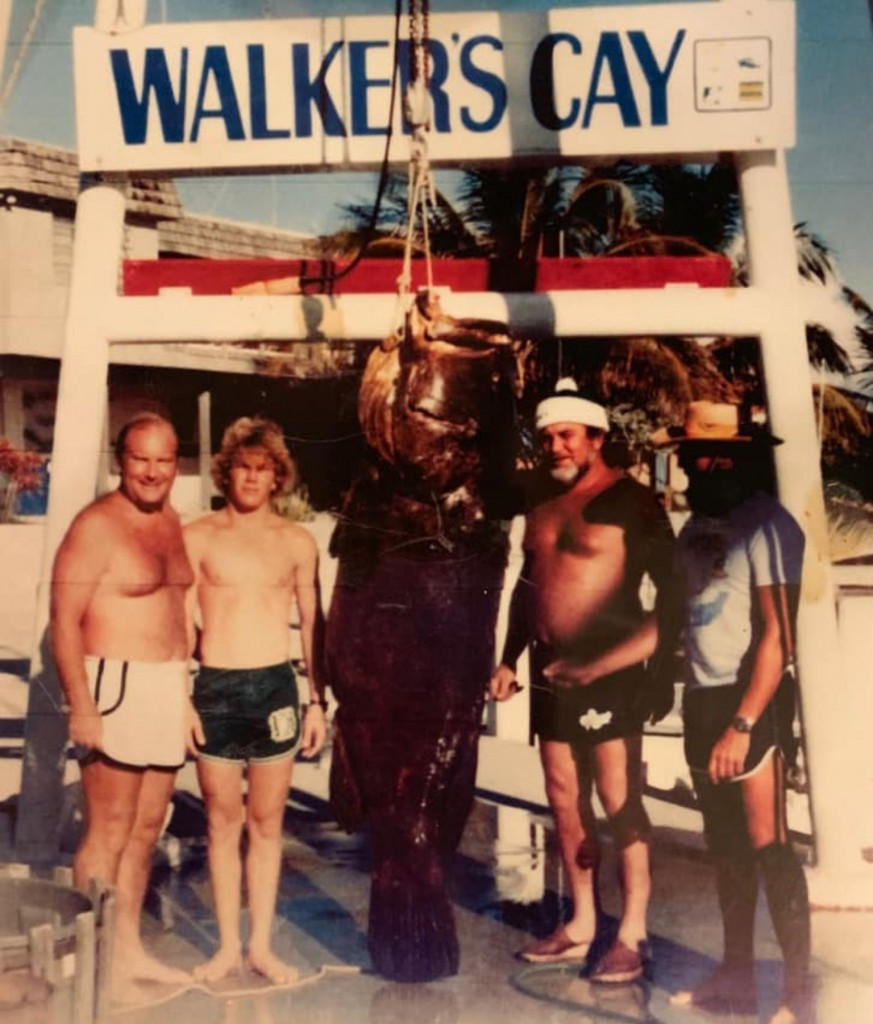 captain billy black with grouper