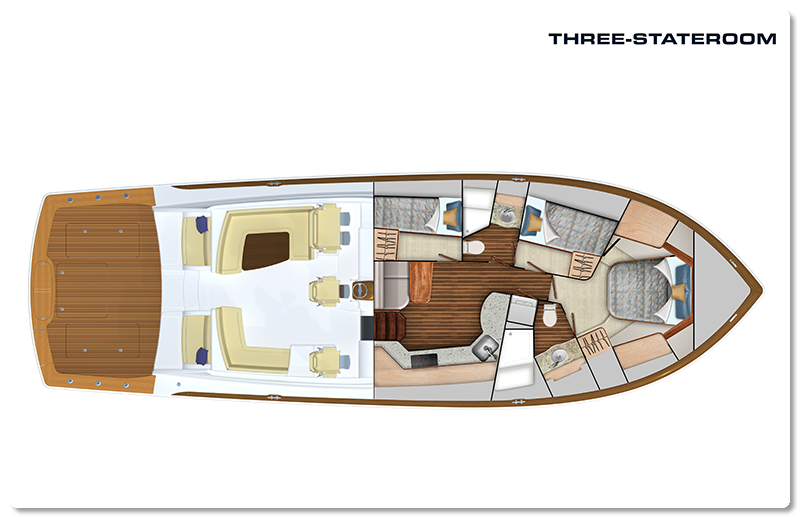 viking yachts three staterooms