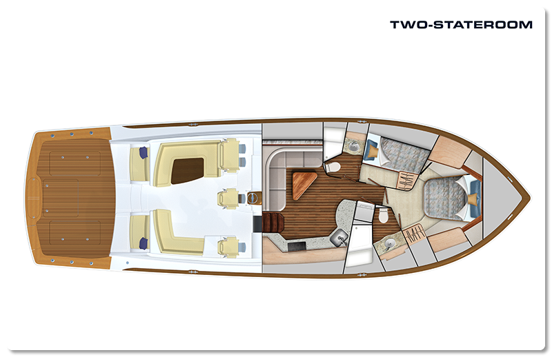 viking yachts two stateroom